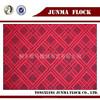 Fashion Chinese Style Grid Twill pattern Flock Sofa Flam Retardant Fabric