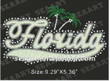 florida sequin embroidery outlined rhinestone heat seal transfer