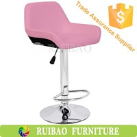 Modern Design Swivel Bar Stool Pu Leather Bar Chair With Colored Salon Chairs