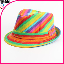 Europe and the United States the new children's hat Colors striped twill comfortable Children's jazz cap hat