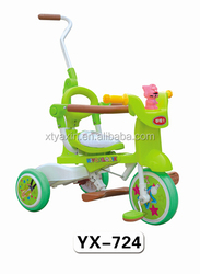 xingtai wooden pedal baby cargo tricycle green color