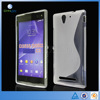 For Sony C3 soft Case, High quality Anti-skid S Line Soft TPU Gel Skin Cover Case For Sony C3 D2533