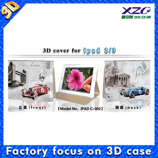 newest fashion 3D image case for ipad air case for ipad mini case