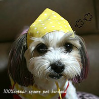 2015 Customized Logo Printed Cheap Hip hop bandana hotsale product 2015 square dog 100%cotton for pet