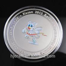 Antigua moneda de recuerdo de color& monedas de plata