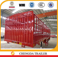 new 45 tons 3 axles stake container semi-trailer with fence and side wall