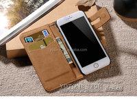 leather belt clip flip wallet case for iphone 6