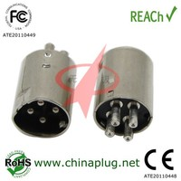 China manufacturing male female 4 pin din connector