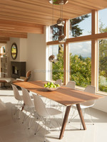 Dining room designs in wood modern style