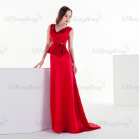 LF004 New Fashion Style Red Bodycon Satin Evening Dresses