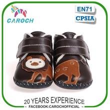 Diseño de dibujos animados niño botas con vaca cuero suela invierno nuevo bebé por mayor zapatos C-1337