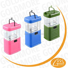 Battery operater small 11LED camping lanterns, 11 led camping tent lights,candy colorful led hook camping lanterns