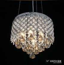 white chandelier with stainless steel material for home decor