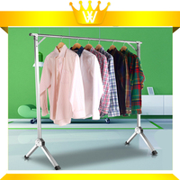 New design Doulbe Pole Clothes Drying Rack Stainless Steel Folding Hanging clothes rack
