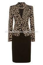 Damas al por mayor de moda de oficina trajes formales para el tamaño más medio- envejecido traje de las mujeres