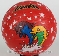 Rubber colorful Basketball size 1 cartoon printed,soft touch,food safe grade rubber