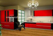 modulated beech wood kitchen cabinet furniture