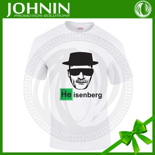 100% cotton single jersey custom logo screen printed tshirts