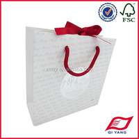 Kraft gift paper bag with hot stamping