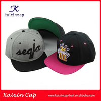 custom blank 5 panel flat brim 3d embroidery logo snapback cap/hat wholesale sports golf hip hop promotional cap and hat