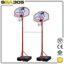pole height adjustable basketball hoop stand