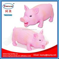 2015 hot sale inflatable summer mating little cartoon pink pig animal