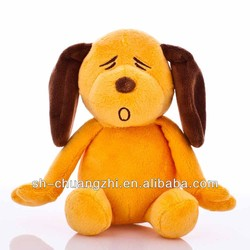 Sleepy The Woof Gold Orange Plush Dog Toy promotion gifts