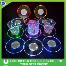 2015 Hot Sale Crazy Party Favor Flashing Plastic LED Coaster, LED Bottle Coaster, Bottle Coaster LED For Club/Bar