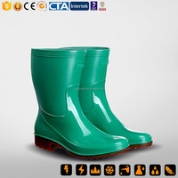 CE China New Rubber & PVC Rain Boot & PVC Injection insulative PVC Boots
