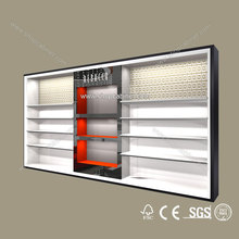 Wholesale Price Custom Design Wall mounted furniture retail wooden shoe store display showcase