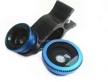 Universal 3 in1 mobile phone Camera Lens - Wide Angle Fish Eye For iP 6 / 6 Plus, iP5 5S 4 4S