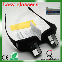 2014 Newest Design Prism Glasses Horizontal Lazy Glasses In Bedroom Custom Made Fashion Glasses for Lazy People