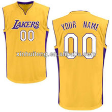 v neck yellow 100% polyester wholesale cheap custom school basketball wears