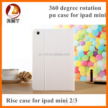 Tablet case cover dual color leather rotating case for ipad mini, for mini ipad case rotating ,for ipad mini case leather US $0