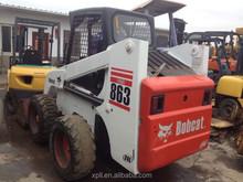 cheap skid steer loader 863 used bobcat wheel loader Japan original for sale