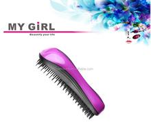 2015 My girl detangle brush for Human hair extensions Displayed hair brush set/combs set/salon brush sets