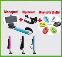 Top Quality Remote Control for Smartphone 3 in 1 Bluetooth Selfie Stick Camera Monopod Shutter