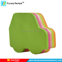 China Supplier Car Shaped Sticky Note Custom Die Cut Sticky Notes Pad