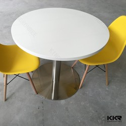 kingkonree round artificial stone table resturant table