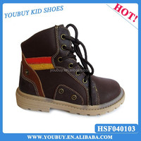 Latest fashion design lace- up spring shoes ankle boots for cool boy