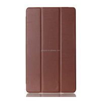 """high quality slim light PU flip folio stand cover leather hard PC bumper 8"""" case with auto wake/sleep for Sony Z3 Tablet Compact"""