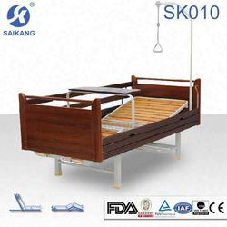 SK010 Cheap Home Care Nursing Antique Wooden Bed Designs