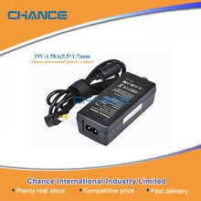 Made in China 30W Laptop adapter for Acer 19V-1.58A(5.5*1.7)mm, 100% factory laptop charger for Acer 30W black