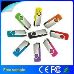 Wholesale Christmas gift thumb drive USB 2.0 flash disk 2GB/4GB/8GB swivel Flash Drive