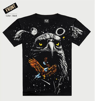 Wholesale Cotton Men's 3D animal print short sleeve Tees T-Shirts OEM /ODM