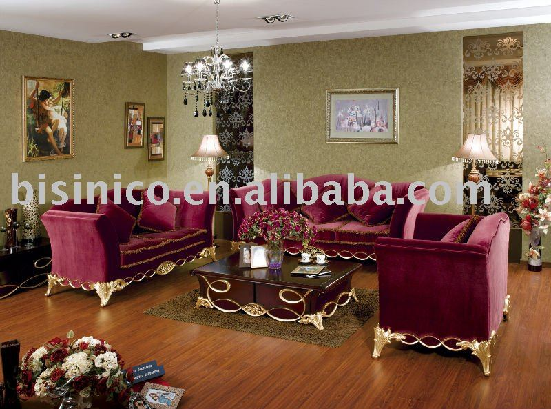 royal style living room sofa set single sofa love sofa three seat sofa and coffee table view. Black Bedroom Furniture Sets. Home Design Ideas