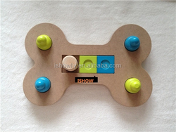 NEW Pet Treat Game Toy Bone Dog/Cat IQ Plate 30cm Training
