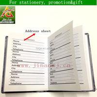 custom pocket address book for office