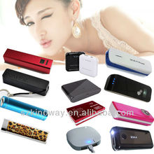 HOT!!! 1600/1800/2200/2600/3000/5200/6000/9000/12000/15000mAh power bank for travel