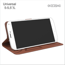 "Universal leather cell phone case with unique pattern for 5.5""-6.0"" phones"